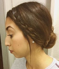 simple+low+bun+with+a+side+braid