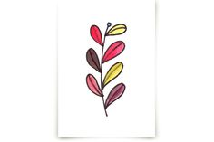 handpainted watercolor leaves by aticnomar at minted.com