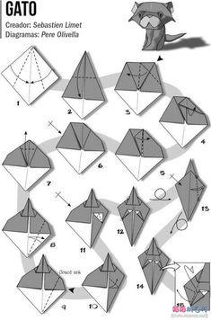Sebastien Limet的小猫折纸教程图片步骤1-WWW.SAYSAY.NET