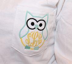 Cute owl monogram