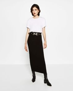 Image 1 of LONG STRAIGHT SKIRT from Zara Faldas Largas 10a51a941239