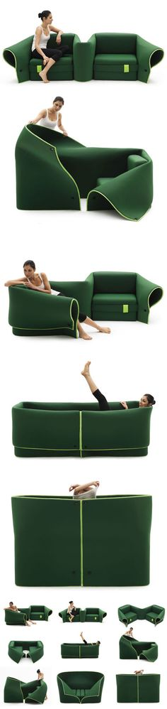 Funny pictures about Convertible Sofa. Oh, and cool pics about Convertible Sofa. Also, Convertible Sofa photos. Design Furniture, Cool Furniture, Unusual Furniture, Vintage Furniture, Contemporary Furniture, Flexible Furniture, Contemporary Art, Cool Inventions, Deco Design
