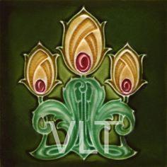 Art Nouveau Reproduction Tile #115, from Villa Lagoon Tile