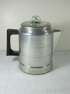 Vintage COMET COFFEE PERK Aluminum mini CAMPING Style!  by LavenderGardenCottag