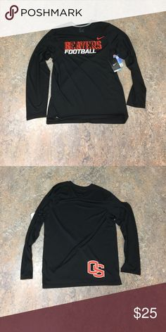 Oregon State Beavers Nike L/S Dri Fit Shirt Small Brand new with tags officially licensed Oregon State Beavers football Nike long sleeve Dri Fit shirt size small. Nike Shirts Tees - Long Sleeve