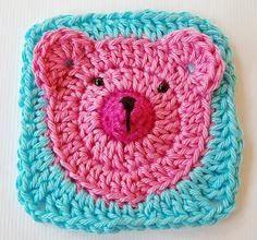 Teddy Bear Applique #Crochet Pattern
