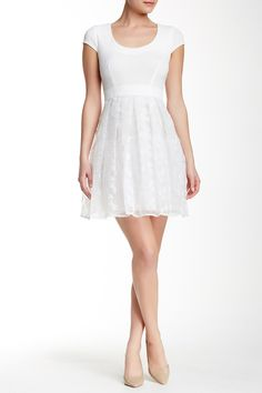 Zoe Lace Flare Dress by plenty by TRACY REESE on @nordstrom_rack