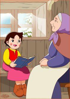 heidi the alps Heidi Cartoon, Cartoon Wall, Cartoon Tv Shows, Old Cartoons, Classic Cartoons, Walt Disney Animation, Innocent Child, Old Anime, Disney Wallpaper