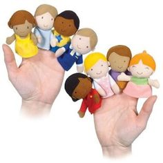 travel games - felt finger puppets