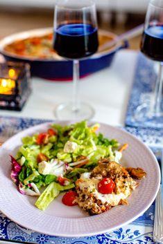 Köttfärsgratäng med mozzarella och färsk oregano - 56kilo.se