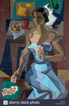 The Fortune-Teller, 1915 (oil on canvas) by Jean Metzinger (French, Musee des Beaux-Arts, Caen, France - How I'd love to have this hanging on my wall! Georges Braque, Pablo Picasso, Rene Magritte, Figure Painting, Painting & Drawing, Cubism Art, Cubist Paintings, Francis Picabia, Sonia Delaunay