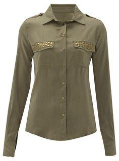 Khaki Stud Shirt £18.99 #pinternacionale