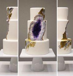 Amazing Geode Crystal Wedding Cake Looks a Bit Like the Eye of Sauron (In a Good Way!)