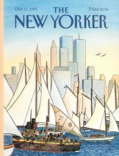 "The New Yorker - Monday, October 11, 1993 - Issue # 3580 - Vol. 69 - N° 33 - Cover ""Back In The New World"" by ""Loustal"" - Jacques de Loustal"