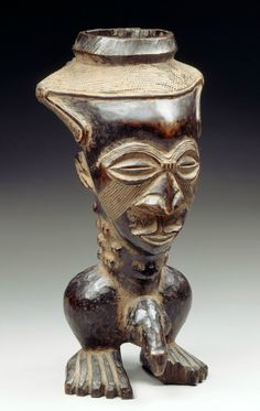 Africa | Palm wine cup from the Kuba people of Kasaï, DR Congo | Wood