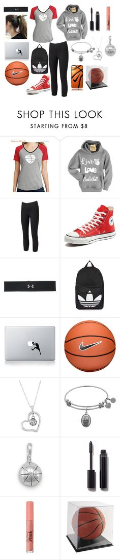 """Basketball Girl Outfit"" by pjerebker ❤ liked on Polyvore featuring Jennifer Lopez, Converse, Under Armour, Topshop, Vinyl Revolution, NIKE, Dayna U and Chanel"