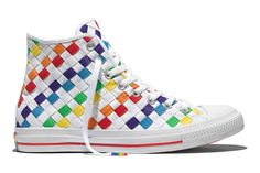31a858090288 Converse shows it s Pride with rainbow colored shoes. Rainbow Shoes