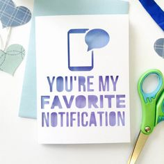My Favorite Notification Paper-Cut LDR Card