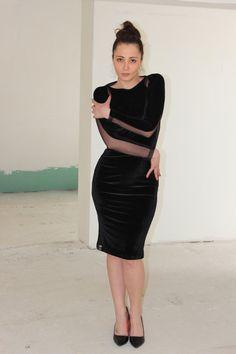 A beautiful and feminine elastic velvet by cherryblossomsdress