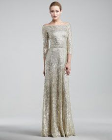 Metallic-lace-Wedding-Dresses