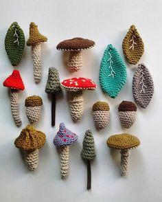 Elementos del bosque Consultas a dedosdelana@gmail.com #hechoenchile…