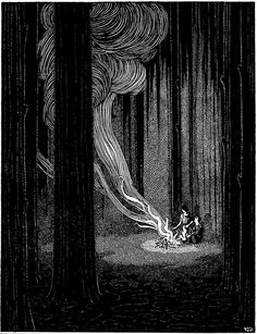 'Hansel and Gretel' - My Book of Favourite Fairy Tales illustrated by Jennie Harbour, 1921.