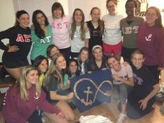 Being accepted into my Alpha Sigma Tau sorority alongside my pledge class of 15 girls.