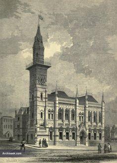 1860 – Unbuilt Design for Wedgwood Memorial, Burslem, Stoke-on-Trent, Staffordshire