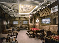 SS Kaiser Wilhelm Der Grosseu0027s Smoking Cabin, North German Lloyd, Royal  Mail Steamers. 1890