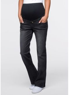 Umstandsjeans, gerades Bein, bpc bonprix collection, black stone