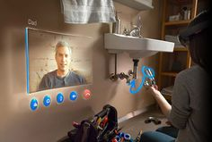 Microsoft HoloLens - It's easier to show than to tell, so do both. With Microsoft HoloLens, friends and colleagues can help you with difficult tasks using HoloNotes in Skype. They can see your environment as you see it, and from their tablet or PC they can draw instructions that appear as holograms in your world. Get customized, real-time help from someone who can see what you see and hear what you hear.