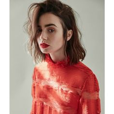 Lily Collins DuJour Magazine October 2016 ❤ liked on Polyvore featuring lily collins