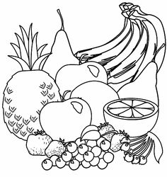 FREE Fruit Coloring Page