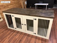Wood Dog Crate, Wire Dog Crates, Diy Dog Crate, Dog Crate Furniture, Coffee Table Dog Crate, Furniture Dog Kennel, Furniture Plans, Dog Crate Sizes, Coffee Tables