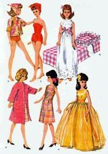 "VINTAGE 11.5"" FASHION DOLL CLOTHES PATTERN FITS BARBIE, MIDGE DOLLS 6987"