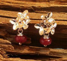 10,-  //  Ohrstecker Ruby mit Orchideen von Mirakel auf DaWanda.com
