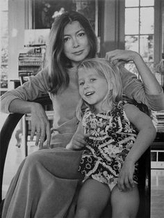 Joan Didion and her daughter Photo by Jill Krementz
