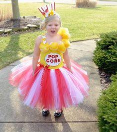 Popcorn Tutu Dress Pop Corn Tutu Dress Circus Birthday by TutuFoxy Food Costumes, Candy Costumes, Tutu Costumes, Costume Ideas, Diy Carnival, Carnival Outfits, Carnival Costumes, Diy Halloween Costumes For Girls, Halloween Stuff