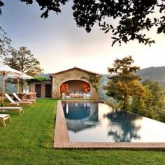 Breathtaking heated Infinity Pool overlooking Umbria, Italy. So beautiful, I would never leave.