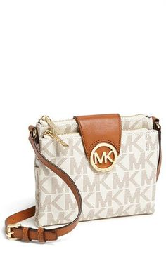 MICHAEL Michael Kors 'Fulton - Large' Crossbody Bag available at #Nordstrom - In Brown, not vanilla