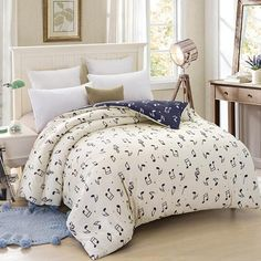 2 Colors Musical Notes Bedding Set