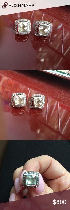 David yurman large studs Color: Prasiolite, got it as a birthday gift worn few times. Studs are heavy. Jewelry Earrings