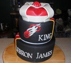 LeBron James Miami Heat Cake