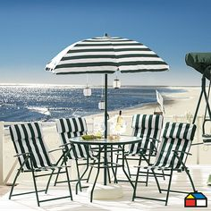 Porque las rayas están de moda #terrazas #verde