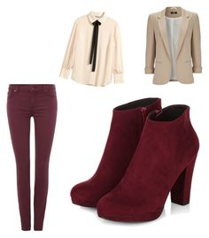 """""""this outfit is for the domes who are braver"""" by annamariaofficial on Polyvore featuring Wallis, 7 For All Mankind and H&M"""