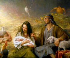 """A Savior is Born.""  Fine Art by Joseph F. Brickey."