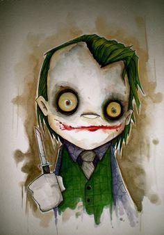 dark knight joker by uminga1 Why So Serious: 30 Incredible Joker Illustrations