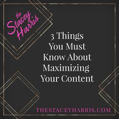 Welcome to episode 299 of Hit the Mic thee Stacey Harris. Hello, hello, episode 299 is here and we're going to talk about maximizing your content today. I know you are producing amazing content each and every week, or month, or whenever you create content. Are you making the most of that content? Are you …