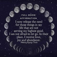 Even if you're not into astrology, the full moon is a great excuse to reflect on your goals over the past months and see how far you've come. We love this quote from Healing Energy Tools ❤️‬ . Full Moon Spells, Full Moon Ritual, Full Moon Meditation, Meditation Quotes, Yoga Meditation, Moon In Aquarius, Scorpio Moon, Sagittarius, Partner Yoga