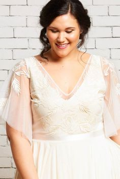 Daphne Top over Hudson Gown by Rebecca Schoneveld